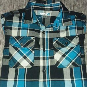 Plaid long sleeve shirt-Youth